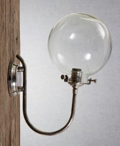 Catalina Wall Lamp in Antique Silver