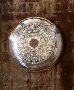 Moroccan Wall Lamp In Shiny Nickel